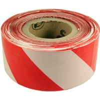 Zebra Tape Red and White 500m