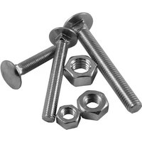 Carriage Bolt and Nut Zinc Plated