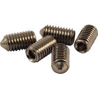 M6 Door Handle Grub Screws Cone Point in Pack of 5