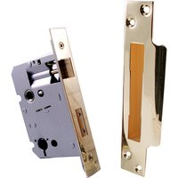 Qube 76mm Bathroom Turn Mortice Lock Brass