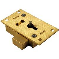 Brass Straight Cabinet Lock 2 Lever 51mm