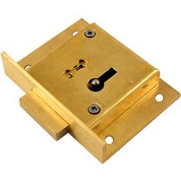 Brass Drawer Lock 4 Lever 51mm