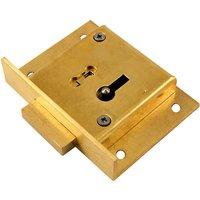 Brass Drawer Lock 4 Lever 64mm