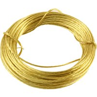 3.5m Coil Brass Picture Hanging Wire