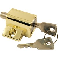 Push Window Lock Brassed Finish