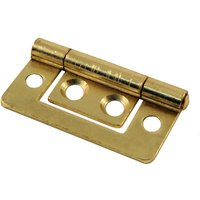No Recess Flush Hinge Electro Brassed In Pairs