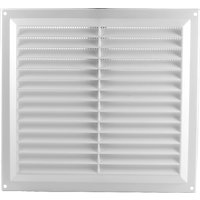 White Plastic Slotted Vent 229x229mm