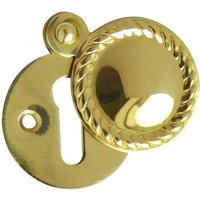 Georgian Brass Keyhole Cover 32mm