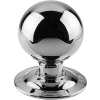 Polished Chrome Ball Style Front Door Knob 3in