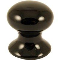 Black Porcelain Cabinet Knob