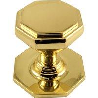 Solid Brass Octagonal Front Door Knob 67mm