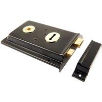 Black Rim Lock 152x100mm