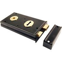 Black Rim Lock 138x76mm