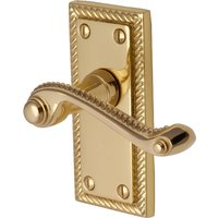 Heritage G060 Georgian Brass Short Lever Latch Door Furniture