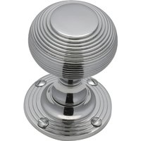 Heritage V971 Chrome Reeded Interior Door Knobs