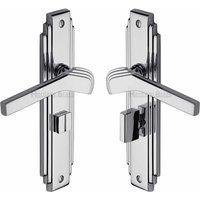 Heritage TIF5230 Polished Chrome Bathroom Door Handles
