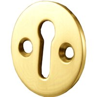 Brass Round Open Escutcheon 32mm