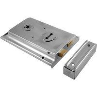Polished Chrome Rim Lock 150x100mm