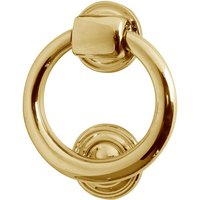 Solid Brass Ring Front Door Knocker 105mm