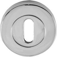 Heritage V4000 Chrome Concealed Keyhole Cover 53mm