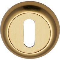 Heritage V4002 Brass Concealed Slotted Keyhole Cover 48mm