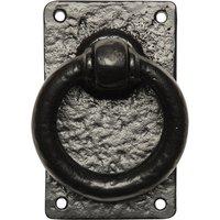 Kirkpatrick 717 Black Antique Style Ring Gate Latch Handle