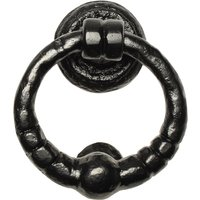 Kirkpatrick 846 Black Antique Style Ring Door Knocker 127mm