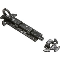 Black Antique Ironwork Door Bolt 152mm 903