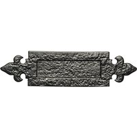 Black Antique Ironwork Letter Box 298x78mm 1073