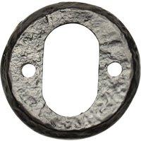 Black Antique Ironwork Oval Keyhole Cover 1402