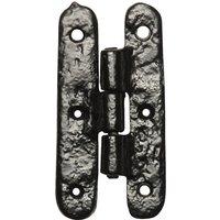 Black Antique Ironwork H Hinges 82x41mm 1507 In Pairs