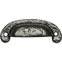 Black Antique Ironwork Drawer Pull Handle 108mm 3960
