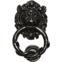 Black Antique Ironwork Lions Head Front Door Knocker 100mm 4896