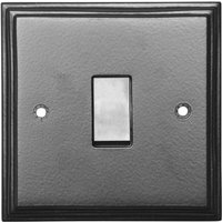 Black Hammered Finish Single Wall Switch 5115