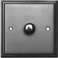 Black Hammered Finish Single Dimmer Wall Switch 5121