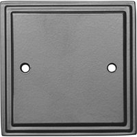 Black Hammered Finish Single Blanking Wall Plate 5126