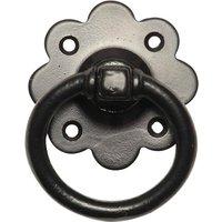 Black Smooth Iron Gate Handle 3431