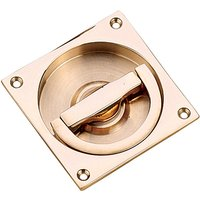 Solid Bronze Flush Ring Pull Handle