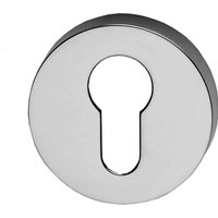 Chrome Round Euro Profile Cylinder Cover 52mm