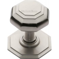 Heritage V890 Satin Nickel Exterior Front Door Knob 82mm