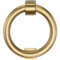 M. Marcus Satin Brass Ring Front Door Knocker 107mm
