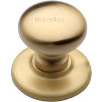 M. Marcus Satin Brass Round Front Door Knob 78mm