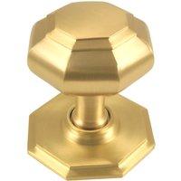 M. Marcus Satin Brass Octagonal Front Door Knob 82mm