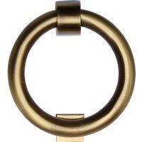 Aged Brass Ring Front Door Knocker 107mm