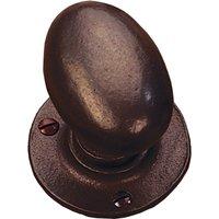 Traditionally Cast Bronze 72 x 43mm Oval Door Knobs