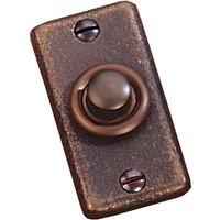 Traditionally Cast Bronze Door Bell 60 x 30mm.