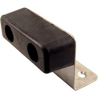 Extended Upstand Large Black Rubber Door Stop or Buffer 100mm
