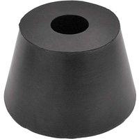 Black Rubber Cone Door Stop 85x52mm