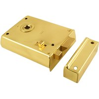 Brass Rim Latch With Slide Action Latch