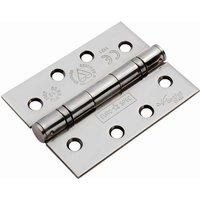 Bright Stainless 102x76x2.5mm Ball Bearing Door Hinge 1.5 Pairs